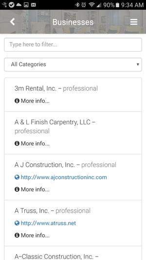 Member listing